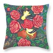 Finch Fancy Throw Pillow