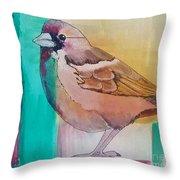 Finch Fun Throw Pillow