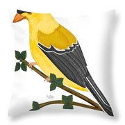 Finch In 2009 Throw Pillow