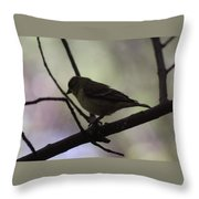 Finch Shadow 042814a Throw Pillow