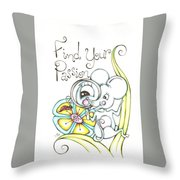 Find Your Passion Throw Pillow