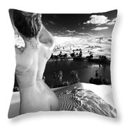 Finding The Oasis Throw Pillow