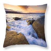 Finding The Seams Throw Pillow