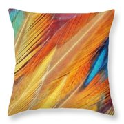 Fine Art Feathers Throw Pillow