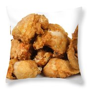 Fine Art Fried Chicken Food Photography Throw Pillow