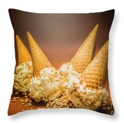 Fine Art Ice Cream Cone Spill Throw Pillow