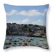 Fine Art - St Ives Harbour Throw Pillow