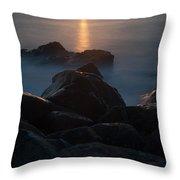 Fine Art- Sunset Rocks Throw Pillow