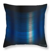 Fine Blue Thread Throw Pillow
