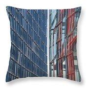 Fine Line Between Buildings Throw Pillow