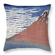 Fine Weather With South Wind Throw Pillow by Hokusai