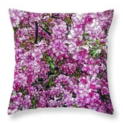 Fine Wine Cafe Apple Blossoms Throw Pillow