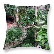 Fine Wine Cafe Beautiful Garden Throw Pillow