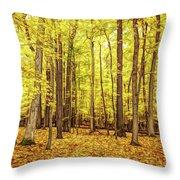 Fine Wine Cafe Golden Woods Throw Pillow