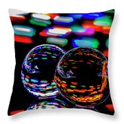 Finger Light Painted Glass Ball Abstract Throw Pillow