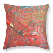 Finger Painting Throw Pillow