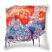 Finger Print Map Of The World Throw Pillow