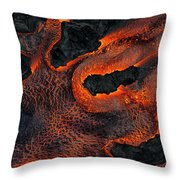 Fingers Of Lava Throw Pillow