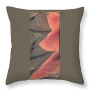 Fingers On Gray Abstract Throw Pillow