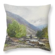 Fingle Bridge On The Teign Throw Pillow