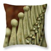 Finials All In A Row Throw Pillow