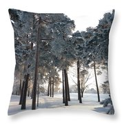 Finland Forest Throw Pillow
