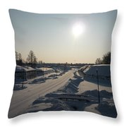 Finland Fortress Throw Pillow