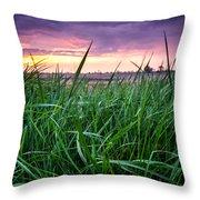 Finn Line Grass Throw Pillow
