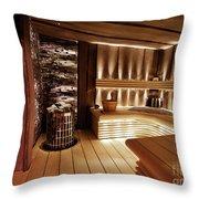 Finnish Sauna Throw Pillow