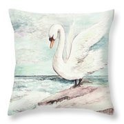 Finula On The Rock Throw Pillow