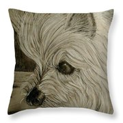 Fiona In Thought Throw Pillow