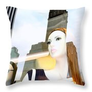 Fiona On 58th St Throw Pillow