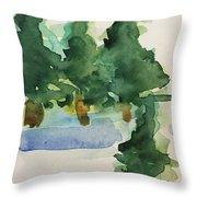 Fir Trees Throw Pillow