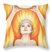 Fire - The Elements Throw Pillow