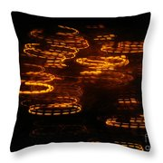 Fire Abstract  Throw Pillow