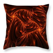 Fire Abstraction Throw Pillow