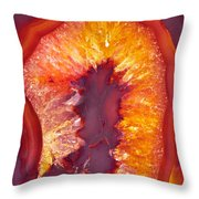Fire Agate Throw Pillow