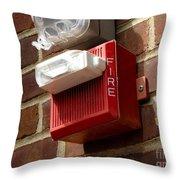 Fire Alarm Horn And Strobe Throw Pillow