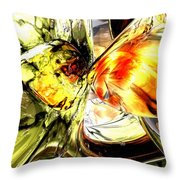 Fire And Desire Abstract Throw Pillow