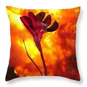 Fire And Flower Throw Pillow