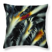 Fire And Frost Throw Pillow