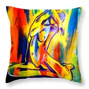 Fire And Gold Throw Pillow