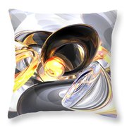 Fire And Ice Abstract Throw Pillow