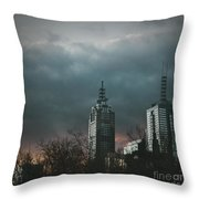 Fire And Ice Throw Pillow by Andrew Paranavitana