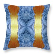 Fire And Ice - Digital 1 Throw Pillow