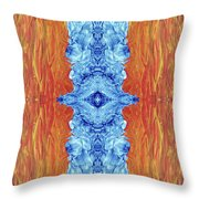 Fire And Ice - Digital 2 Throw Pillow