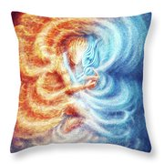 Fire And Ice Throw Pillow