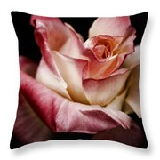 Fire And Ice Rose 2 Throw Pillow