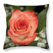 Fire And Ice Rose Throw Pillow