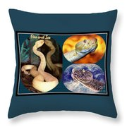 Fire And Ice Slither Collage Throw Pillow